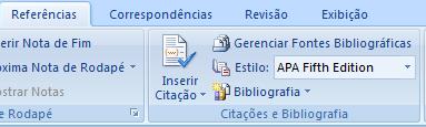 MS Word 2007 citações e bibliografia (2)