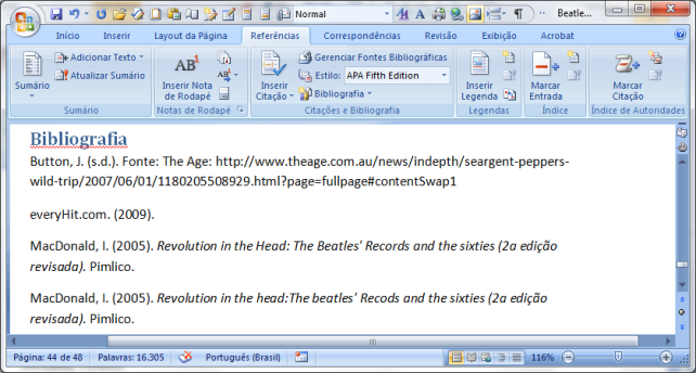 MS Word 2007 citações e bibliografia (3)