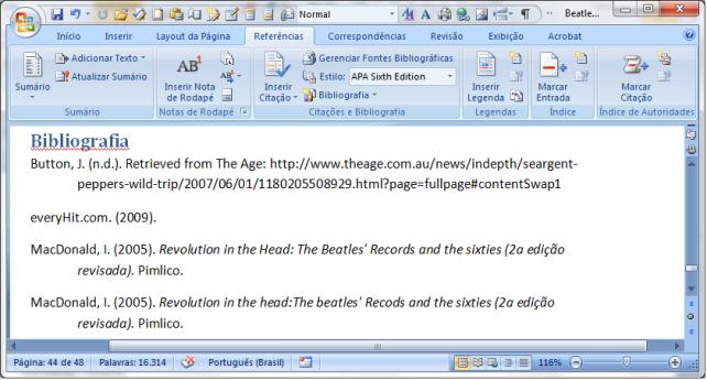 MS Word 2007 citações e bibliografia (4)