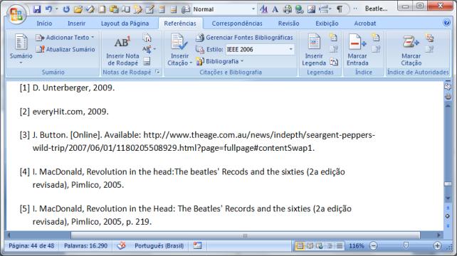 MS Word 2007 citações e bibliografia (5)
