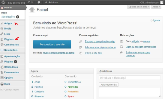 wordpress-painel-controle-posts-paginas